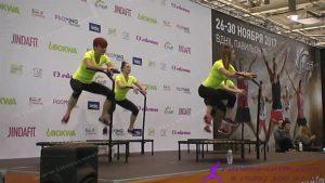 215. Sky Jumping basik фитнес на спортивных мини-батутах